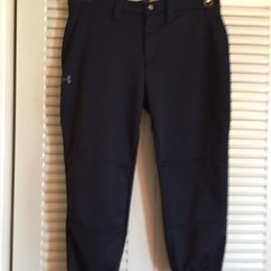 Under Armour Medium polyester Black Sport Capri